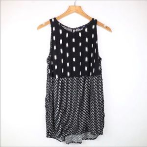 Madewell black and white tank top small